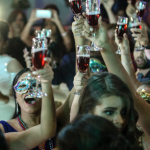party people with glasses